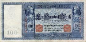 """R.035 100 Mark 1908 """"Flottenschein"""" (2+)"""