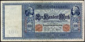 """R.035 100 Mark 1908 """"Flottenschein"""" (3)"""