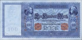 R.043b: 100 Mark 1910 (1-) hellblau