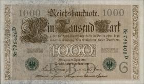 R.046a 1000 Mark 1910 grün 6-stellig (1)
