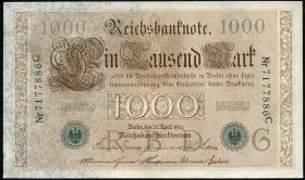 R.046b 1000 Mark 1910 grüne Siegel (1)