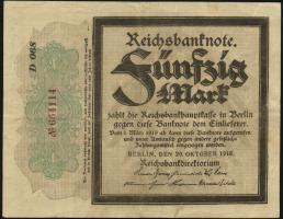 """R.056c: 50 Mark 1918 """"Trauerschein""""  (3)"""