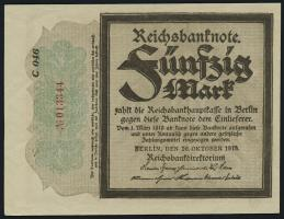 R.056a: 50 Mark 1918 (2+) Trauerschein
