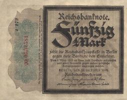 R.056f: 50 Mark 1918 (1/1-)