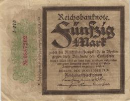 """R.056f: 50 Mark 1918 """"Trauerschein""""  (3)"""