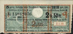 R.061a: 2,50 Mark 1918 Kupon (1-)