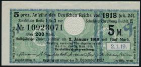 R.061b: 5 Mark 1918 Kupon (2+)