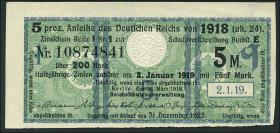 R.061b: 5 Mark 1918 Kupon (1)