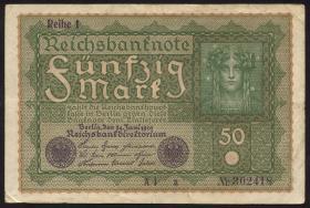 """R.062a: 50 Mark 1919 """"Reihe 1"""" (3)"""