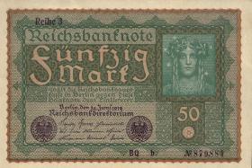 "R.062Ac 50 Mark 1919 ""Reihe 3"" braunes Papier BQ-b (1/1-)"
