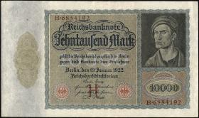 R.068a: 10000 Mark 1922 (2+)