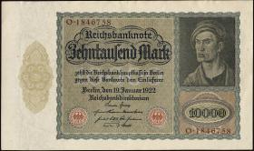 R.068b: 10000 Mark 1922 (1/1-)