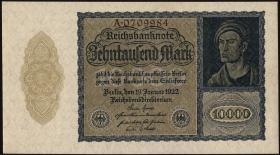 R.069a: 10000 Mark 1922 Reichsdruck 7-stellig (1)