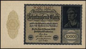 R.069b: 10000 Mark 1922 Reichsdruk 8-stellig (1)