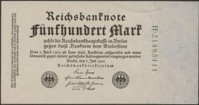 R.071c: 500 Mark 1922 KN grün 8-stellig (1)
