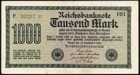 R.075h: 1000 Mark 1922 HH 5-stellig (3)