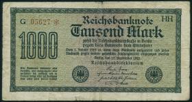 R.075h: 1000 Mark 1922 HH 5-stellig (4)