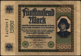 """R.076: 5000 Mark 1922 """"Spinelli"""" (3)"""