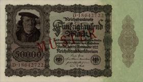 R.078M: 50000 Mark Reichsbanknote 1922 Muster (1)