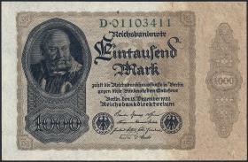 R.081a: 1000 Mark 1922 D (1) Reichsdruck