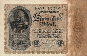 R.081a: 1000 Mark 1922 H (1) Reichsdruck