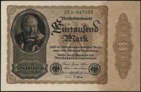 R.081bA: 1000 Mark 1922 (1/1-)