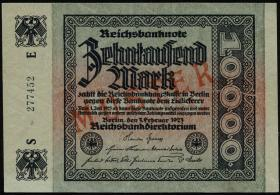 R.083M 10000 Reichsmark 1923 MUSTER (1-)