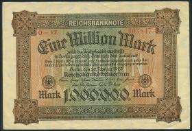 R.085b: 1 Million Mark 1923 YZ (3+)