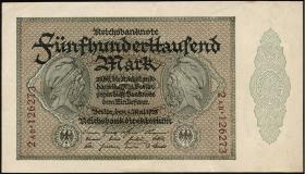 R.087e 500.000 Mark 1923 Firmendruck (1-)
