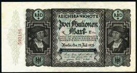 "R.089F 2 ""Mulionen"" Mark 1923 Fehldruck (2)"