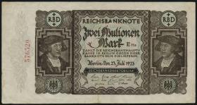 "R.089F 2 ""Mulionen"" Mark 1923 Fehldruck (3+)"