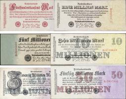 R.091 - 97: 500.000, 1 Million - 50 Millionen Mark 1923 (3)