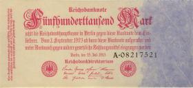 R.091a: 500.000 Mark 1923 Reichsdruck (1-)