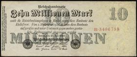 R.095F: 10 Millionen Mark 1923 (3) Druckverschiebung