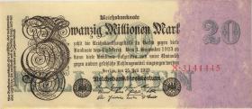 R.096a: 20 Mio. Mark 1923 Firmendruck (1/1-)