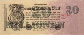 R.096b: 20 Mio. Mark 1923 Privatdruck (1-)