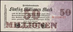 R.097a: 50 Mio. Mark 1923 Reichsdruck (1-)