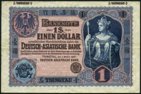 R.1000: 1 Dollar 1907 Tsingtau (3+)