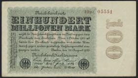R.106d 100 Mio. Mark 1923 5-stellig (3+)