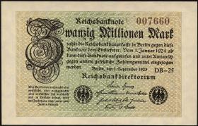R.107a: 20 Millionen Mark 1923 (1)