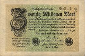 R.107b: 20 Millionen Mark 1923 5-stellig (1)