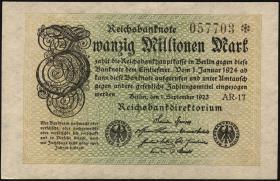 R.107c: 20 Mio. Mark 1923 (1-)