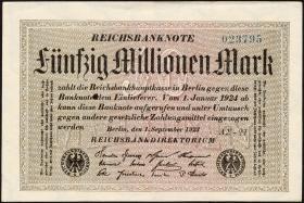 R.108f: 50 Mio. Mark 1923 (1-)