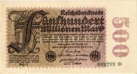 R.109j: 500 Mill. Mark 1923 (2+)