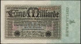 R.111a: 1 Milliarde Mark 1923 Reichsdruck (1-)