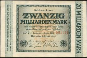 R.115b: 20 Milliarden Mark 1923 (1-)