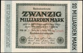R.115e: 20 Milliarden Mark 1923 (1/1-)