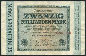 R.115Fa: 20 Milliarden Mark 1923 Fehldruck (3+)