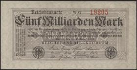 R.120a: 5 Milliarden Mark 1923 5-stellig (1-)