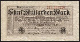 R.120b: 5 Milliarden Mark 1923 (3) Serie H
